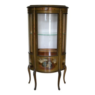 Antique French Vitrine Curio Cabinet