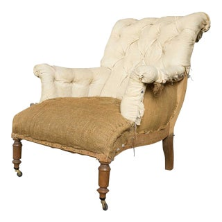 French Armchair with Rolled Back