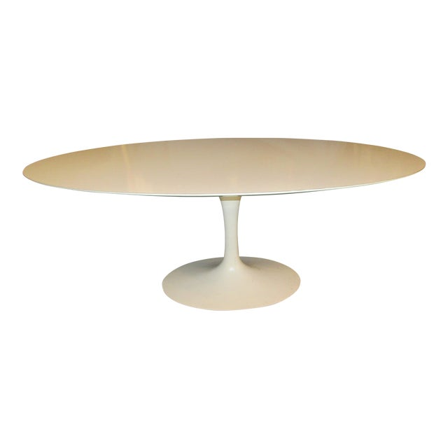 Authentic VIntage Knoll Saarinen Oval Tulip Base Dining Table - Image 1 of 7