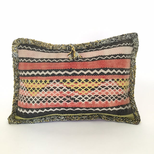 Image of Moroccan Berber Vintage Kilim Wool Pillow