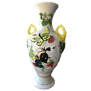 Japanese Scenery Painted Porcelain Vase