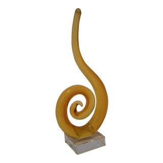Murano Glass Swirl Sculpture