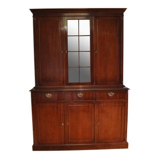 Vintage Mohogany Breakfront China Cabinet