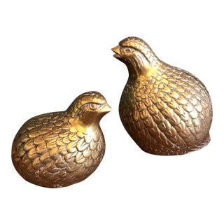Brass Quails - A Pair