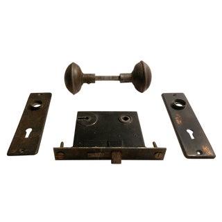 Early 20th-C. Bronze Door Hardware