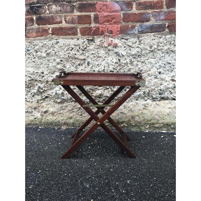 Vintage 1950s Chinoiserie Traditional Tray Table - Image 2 of 5