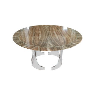 Round Onyx Table with Lucite Base