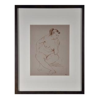 John Fenton Seated Nude Drawing