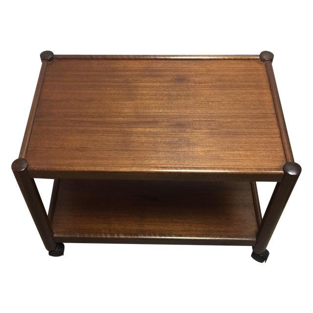Vintage Modern Wood Bar Cart - Image 1 of 4