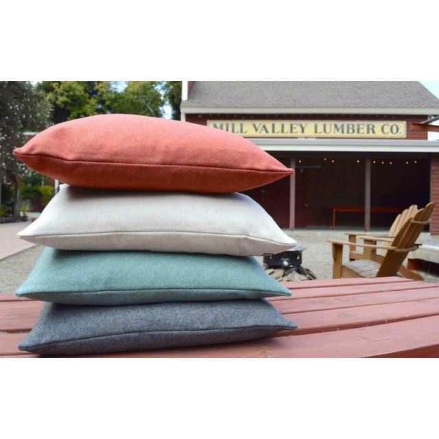 Italian Orange Sustainable Wool Pillow - Image 5 of 6