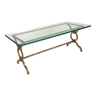 Gilt Wrought Iron Cocktail Table after Gilbert Poillerat