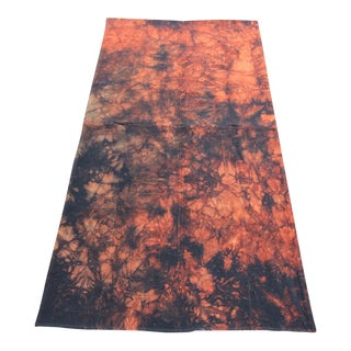 Vintage Turkish Tie Dye Curtain Patchwork Rug- 2′11″ × 5′11″