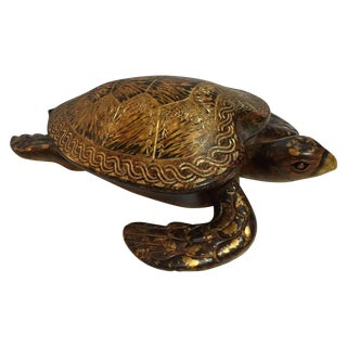Decorative Wooden Turtle Box