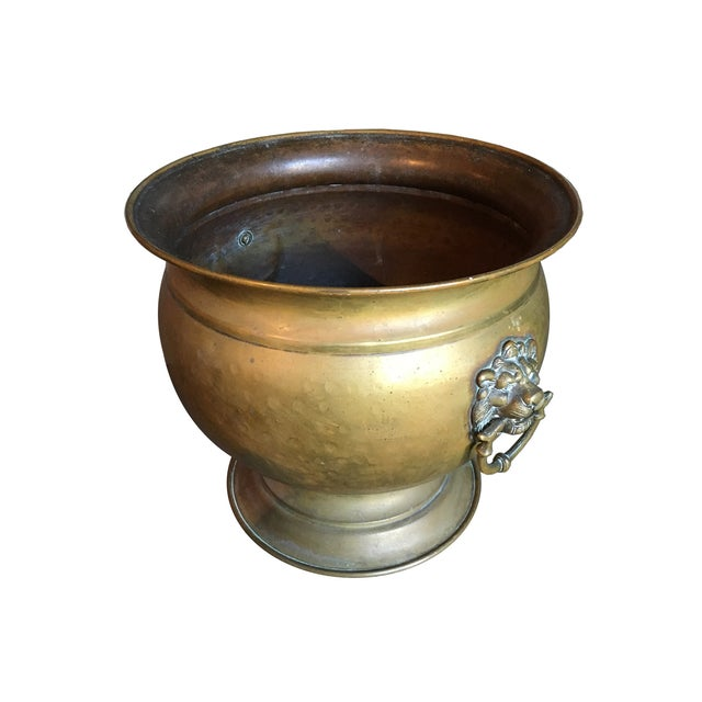 Antique Brass Jardiniere - Image 2 of 4