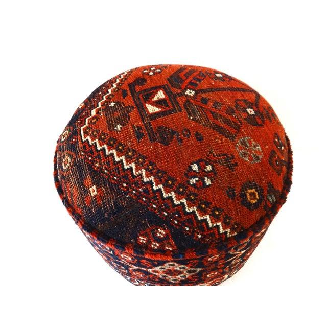 Antique Tribal Qashqa'i Upholstered Ottoman - Image 2 of 6