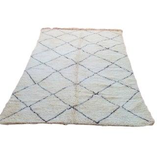 Beni Ourain Luxury Pile Rug - 6′7″ × 9′11″