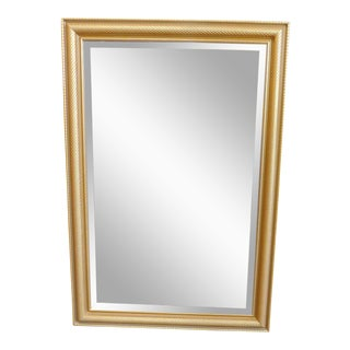 Gold Frame Beveled Hanging Wall Mirror