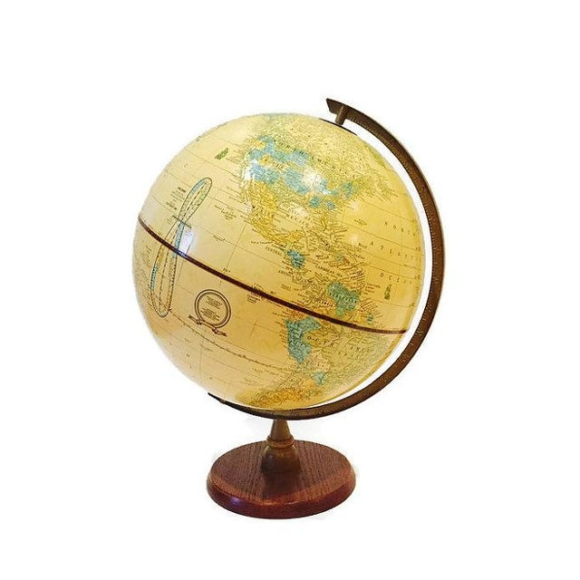 Vintage Crams Imperial World Globe Wood Stand - Image 4 of 6