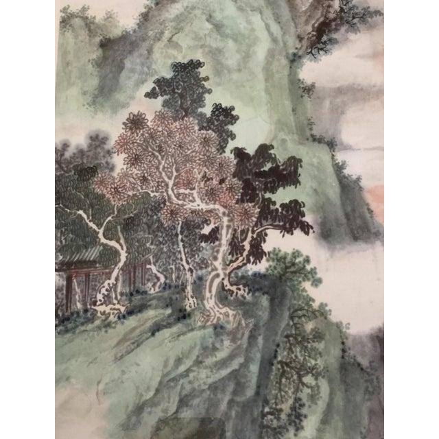 Vintage Asian Seaside Painting - Image 4 of 11