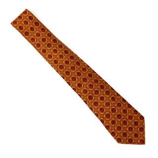Vintage Hermes Spice Colored Silk Tie