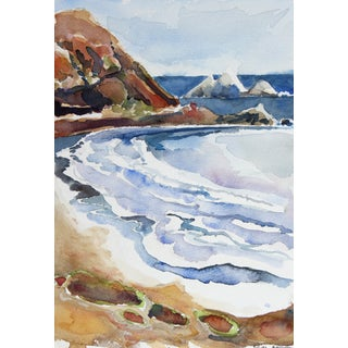 Rockaway Beach, CA Watercolor by A. McGaffey