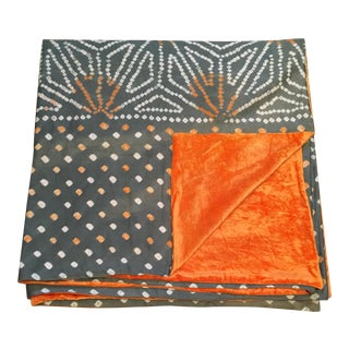 Grey & Orange Tie Dye Bed Linen