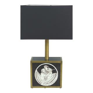Vintage Ceramic & Brass Table Lamp