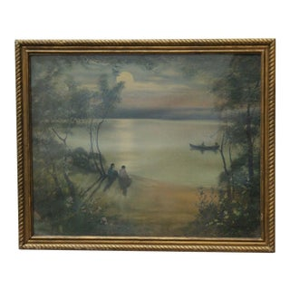 Moonlight Lake Lithograph by Lyman Cary Powell