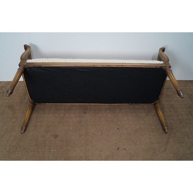 Vintage French Louis XVI Style Window Bench - Image 10 of 10