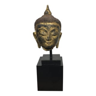 Thai Paper Mache Buddha Head on Stand