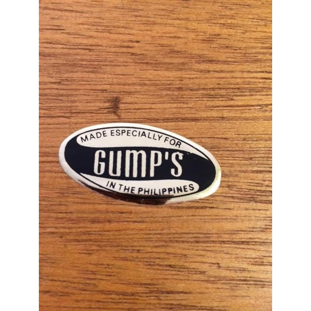 Vintage Gump's Capiz Shell & Wood Tray - Image 6 of 6