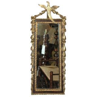Gilded Mirror with Bird Decoration