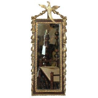 Gilded Mirror with Bird Decoration