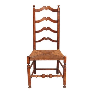 Country American Ladder Back Side Chair
