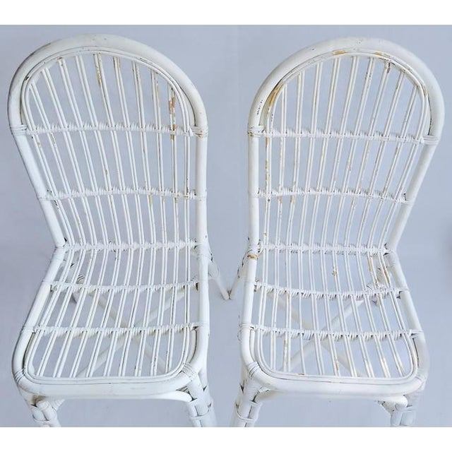 Mid-Century Bent Wood Bamboo Chairs - A Pair - Image 5 of 8