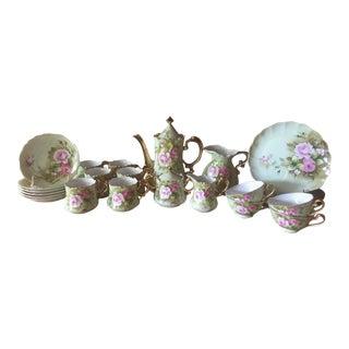 Lefton Pink Rose Tea Set - 26 Pieces