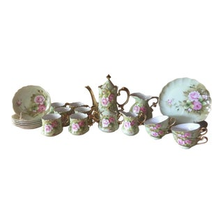 Lefton Pink Rose Tea Set - 26 Pieces