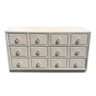 Vintage Dorothy Draper-Style White Dresser