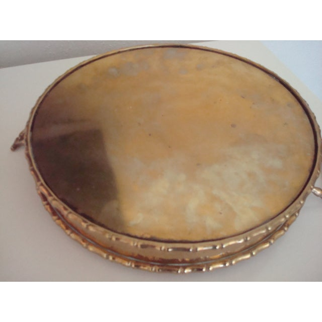 Image of Round Faux Bamboo Tray