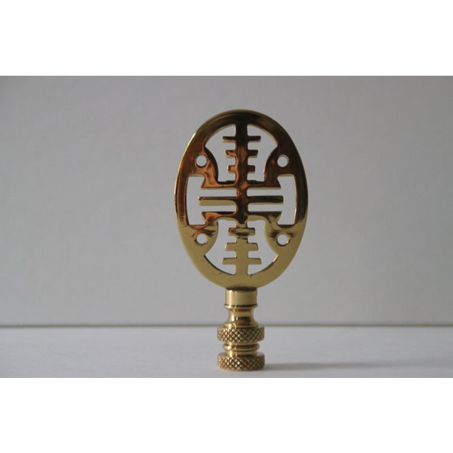 Asian-Style Brass Lamp Finials - Pair