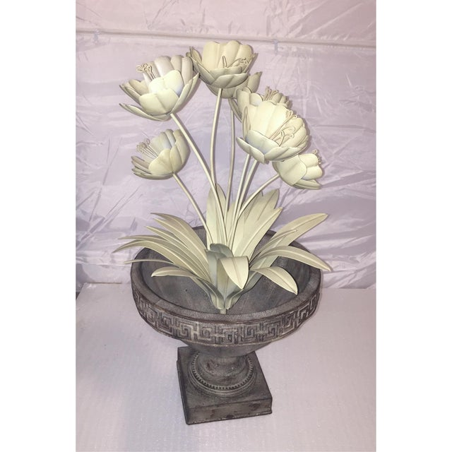 Image of Painted Metal French Flower Topiary