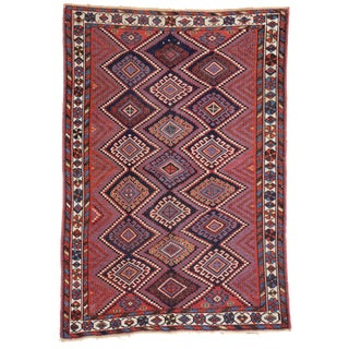 Antique Persian Afshar Rug with Modern Tribal Style, 4'3x6'