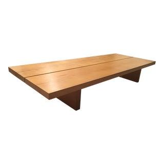Modern Minimalist Solid Oak Coffee Table