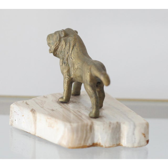 Vintage Mid-Century Brass Lion Paperweight - Image 5 of 5