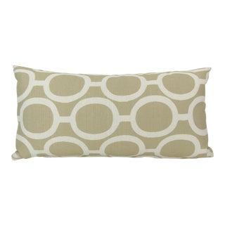 Linked Chain Pattern Linen Kidney Pillow
