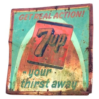 Vintage Metal 7 Up Sign