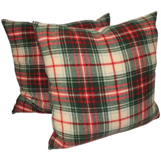 Pair of Wool Plaid Pillows