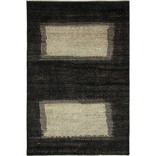 "New Gabbeh Hand-Knotted Rug - 6'6"" x 9'8"""