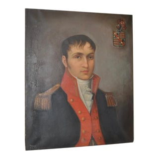 Early 19th Century Spanish Male Oil Portrait on Canvas