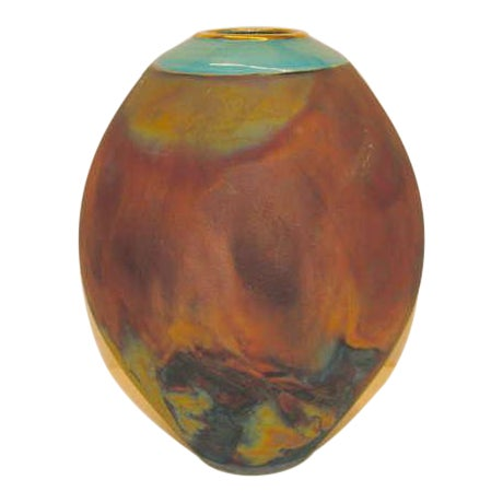 Image of Beautiful raku fired vase